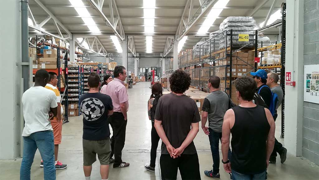 Students from Course of Warehouse Operator visit Iberital