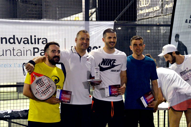 Ganadores del 1º Padel Night Express Inter-empresas